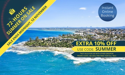 Sunshine Coast: Up to 7Night Beachside Getaway for Up to Six People at Oaks Seaforth Resort