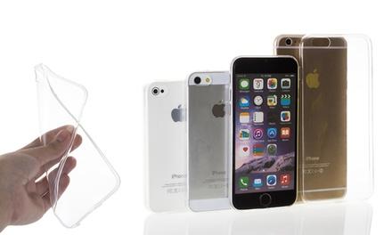 Hasta 2 fundas de gel transparente para iPhone 4/5 / SE / 6 / 6S / 6 Plus desde 1,95 € (88% de descuento)