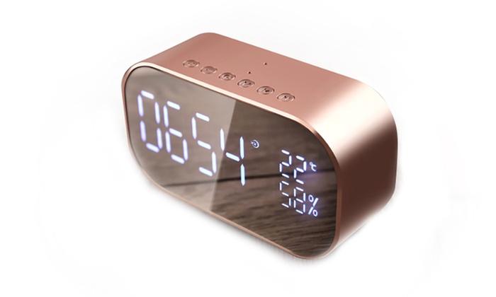 EnceinteRéveil Bluetooth portable avec écran LCD et micro carte SD 32Gb en option