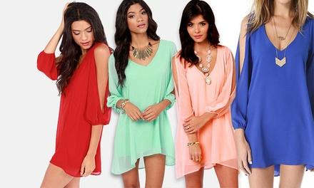 Slit-Sleeved Summer Dress