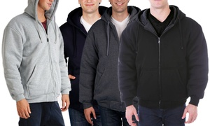 Maxxsel Men's Thermal Lined Fleece Hoodie. Extended Sizes Available.