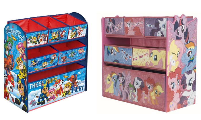 Paw Patrol Toy Organizer Bin Cubby Kids Child Storage Box: Wooden Toy Storage Box