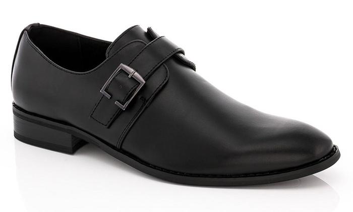 Franco Vanucci Men's Monk Strap Dress Shoes (Sizes 11 & 11.5)