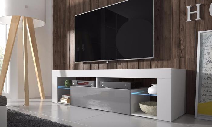 meuble tv moderne groupon. Black Bedroom Furniture Sets. Home Design Ideas