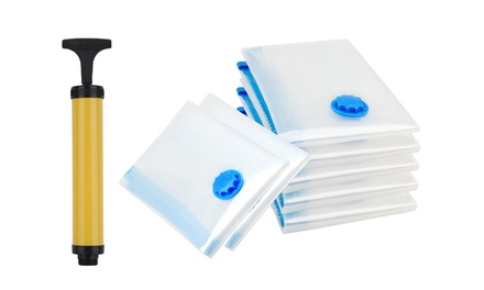One (AED 69), Two (AED 129) or Three (AED 179) Seven Packs of Compression Bags with Vacuum Pump