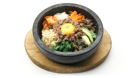 $45 for Korean Dinner with Dumplings, Bi Bim Bab, Stew, and Two Glasses of Wine at Han Bat ($61 Value)