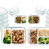 Oven-Safe Glass Meal Prep Containers with Vented & Locking Lids