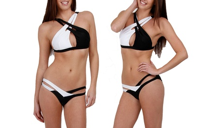 Bikini bicolore sensuel pour femme