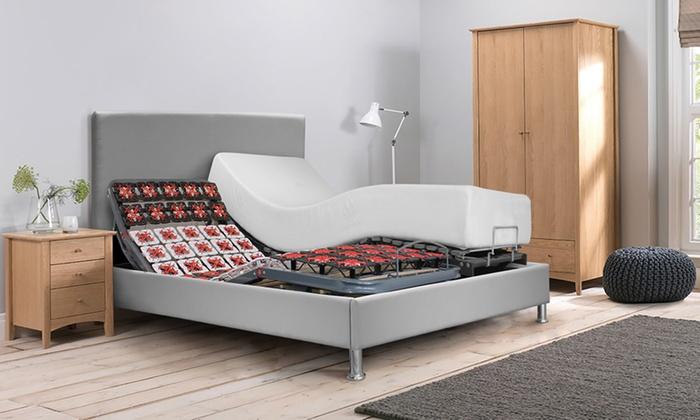 Lit électrique et matelas à mémoire de forme, avec tête de lit en option, livraison offerte