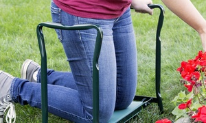 Pure Garden Foldable Sit or Kneel Bench with Soft Foam Pad