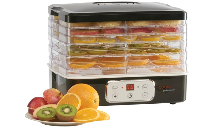Cooks Professional Six-Tier Food Dehydrator with Digital Temperature Control