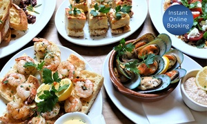 Mezze Bar: Two-Course Meal for Two ($45) or Six Ppl ($129), or Sharing Banquet for 16 Ppl ($459) at Mezze Bar (Up to $720 Value)