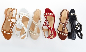 Lady Godiva Mariam Women's T-Strap Sandals