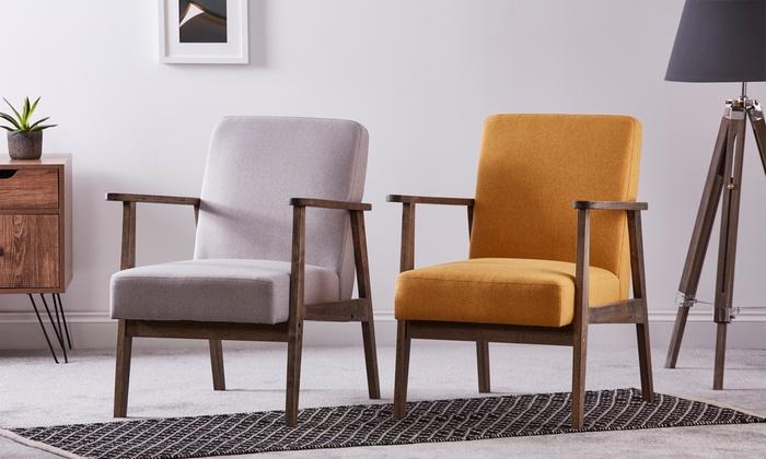 Scandinavian Wooden Armchair | Groupon Goods
