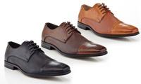 Franco Vanucci Rico-2 Mens Cap-Toe Oxford Shoes (Multi Colors)