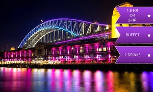 Afloat Cruises International: From $19 for a Vivid Cruise with Buffet and Drinks with Afloat Cruises International, Sydney Harbour (From $50 Value)
