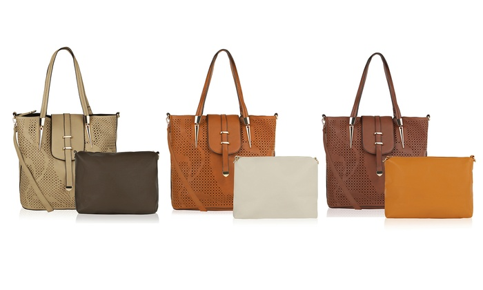 7d7ceb31059 MKF Elmo Tote with Cosmetic Bag or Faye Drive Laser-Cut Handbag. MKF  Handbags by Mia K Farrow