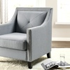 Kennedy Modern Single-Tuft Club Chair with Solid Oak Legs