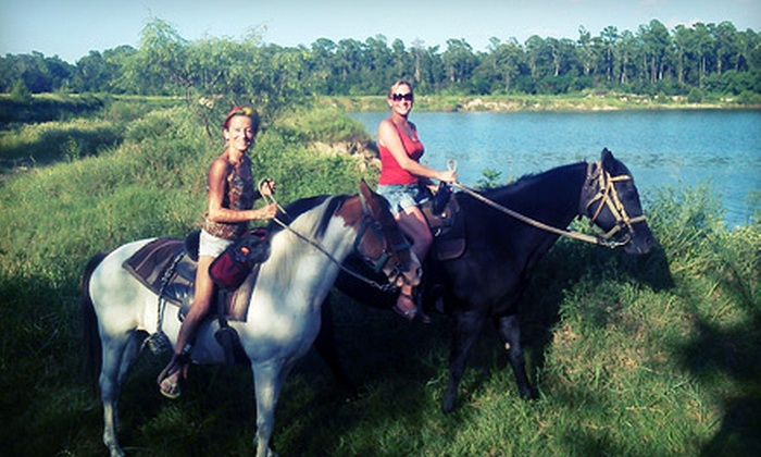 Loveland Ranch - Southeast Montgomery: Three-Hour Horseback Trail Ride for One or Two at Loveland Ranch (48% Off)