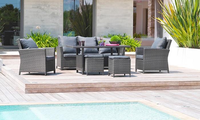 Salon jardin résine luxe 7 places | Groupon