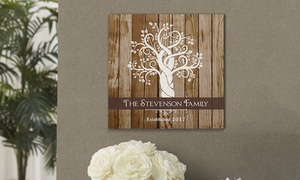Personalized Family Tree Canvas at GiftsForYouNow.com, plus 6.0% Cash Back from Ebates.
