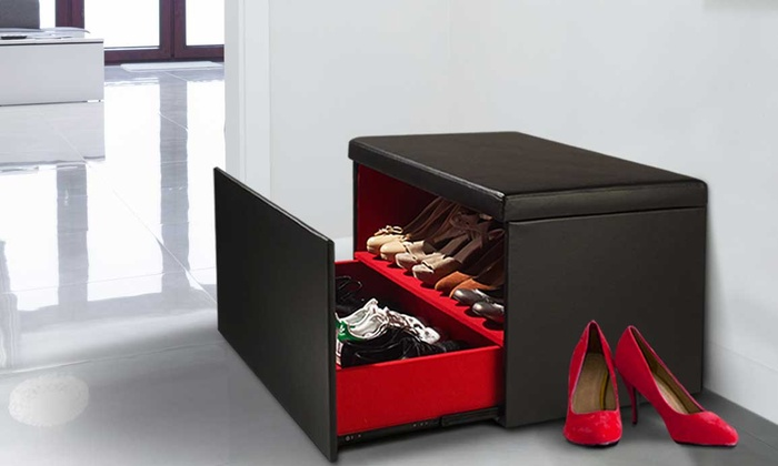 coffre de rangement de chaussures groupon. Black Bedroom Furniture Sets. Home Design Ideas
