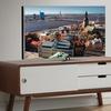 Armani Dark Walnut and White Finish 2-Drawer Wooden TV Cabinet
