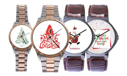 Mens or Womens Personalised Watch from AED 89 (Up to 16% Off)