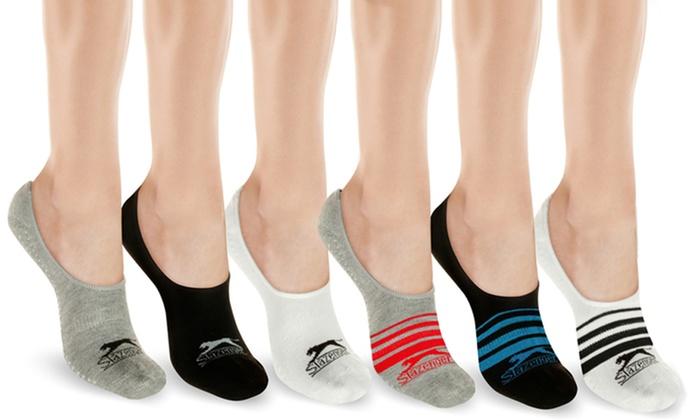 Blue /& White Logos Slazenger 3 Pack Of Men/'s Black Socks With Red