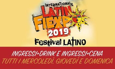 Festival Latinfiexpo – Uno o 2 ingressi più drink o cena catalana dal 17 luglio al 29 agosto (sconto fino a 63%)