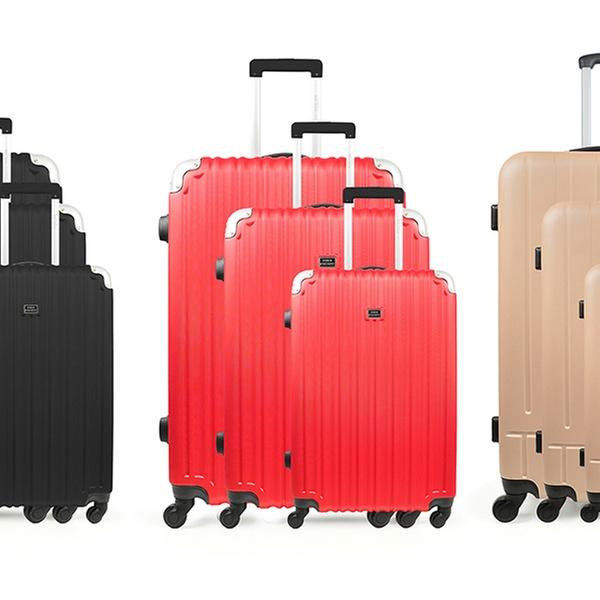 Set 3 valises ABS Studio Apostrophe collection Deauville et Beziers, coloris au choix, à 99,90€ (85% de réduction)