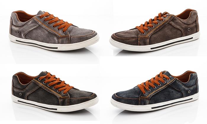 Franco Vanucci Men's Lace-Up Sneakers
