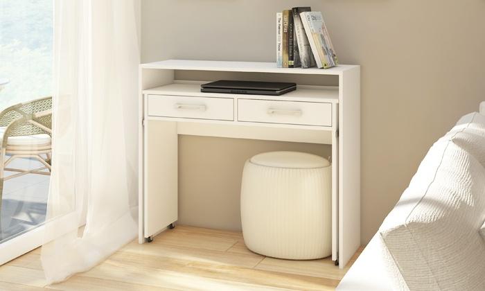 auszieh schreibtisch groupon goods. Black Bedroom Furniture Sets. Home Design Ideas