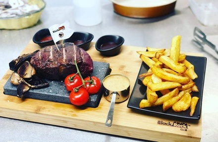 12oz Black Rock Rump Steak Meal with Drinks for Two or Four at The Forge Steak House Derby