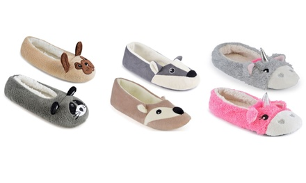One or Two Pairs of Women's Animal-Look Ballet Slippers in Choice of Designs