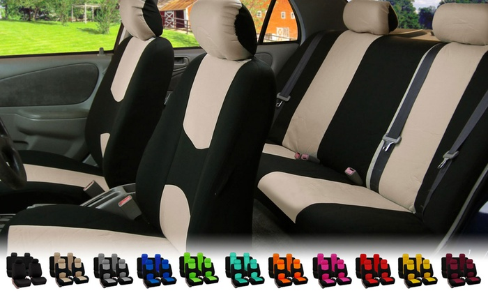 Full Set Flat Cloth Universal Fit Car Seat Covers