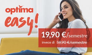 Optima Italia: 6 mesi offerta mobile ''Optima Easy''con 600 minuti, 100 SMS e 3 GB di Internet (sconto 67%)