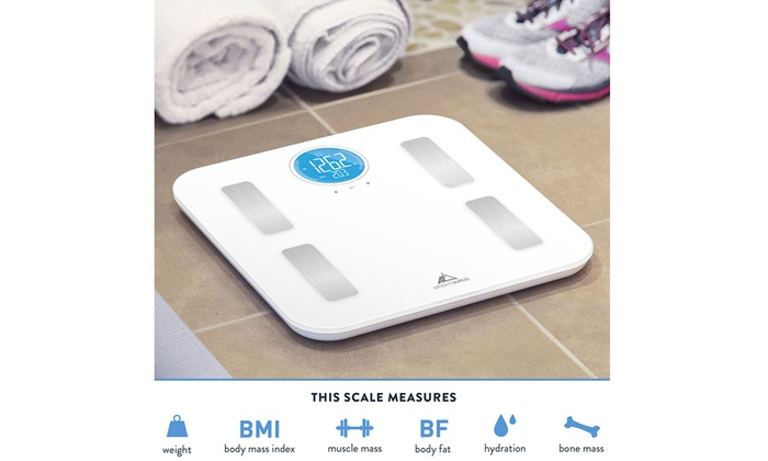 Weight Gurus Wi Fi Connected Body Fat Scale With Backlit