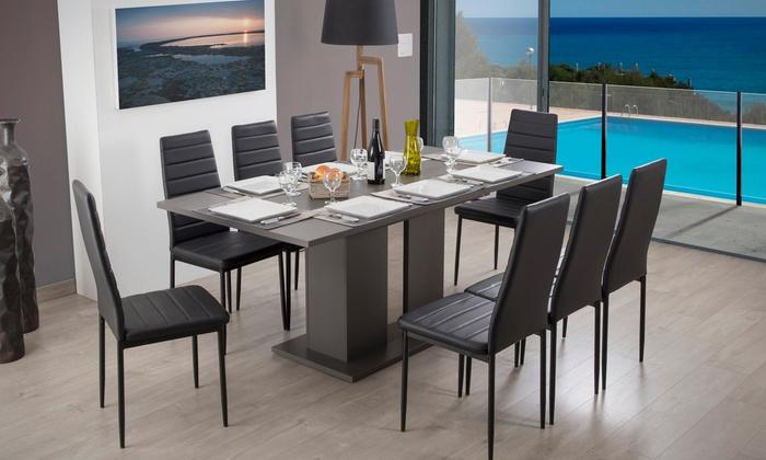 Table extensible avec sans chaise groupon for Table extensible groupon