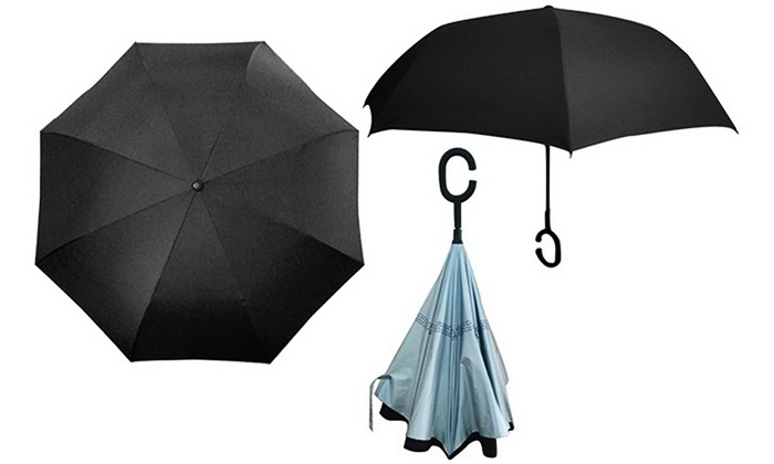 Maod - Merchandising (IL): המטריה המתהפכת! מטריה בעלת פטנט מיוחד לפתיחה וסגירה הפוכה, המקלה על כניסה ויציאה מהרכב ועמידה בפני רוחות חזקות