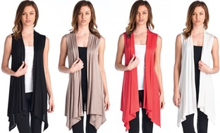 Women's Sleeveless Cardigan