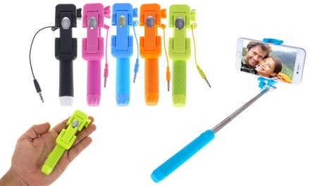 Set di 2 mini selfie stick: Verde