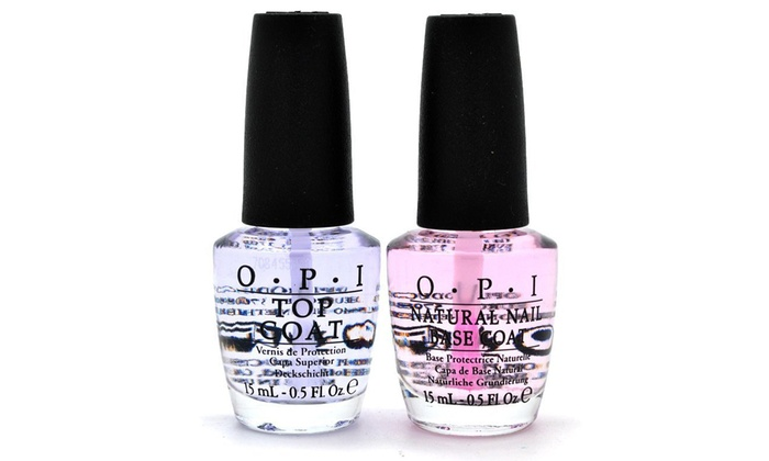 OPI Top and Base Coat Nail Polish Set (0.5 Fl. Oz. Each)