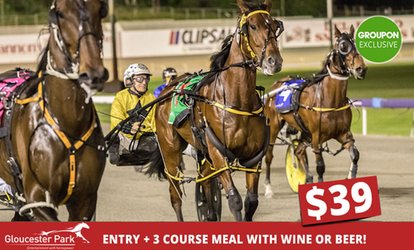 Entry To Gloucester Park + 3 Course Meal with Wine Or Beer for One ($39) or Two ($78) (Up to $815 Value)