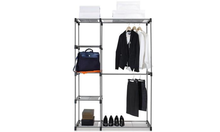 ... Furinno Wayar Double Rod Freestanding Closet: Furinno Wayar Double Rod  Freestanding Closet
