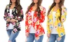 Women's Floral Draped Cardigan. Plus Sizes Available.