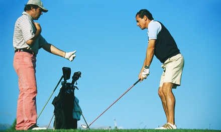 One or Three Outdoor Golf or Indoor Simulator Lessonsat KJ Golf Academy (Up to 60% Off)