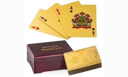 Gold-Plated Flexible Playing Cards