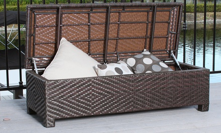 Santa Cruz Outdoor Wicker Storage Ottoman