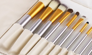 Professional Makeup-Brush Set (12-, 18-, or 24-Piece)